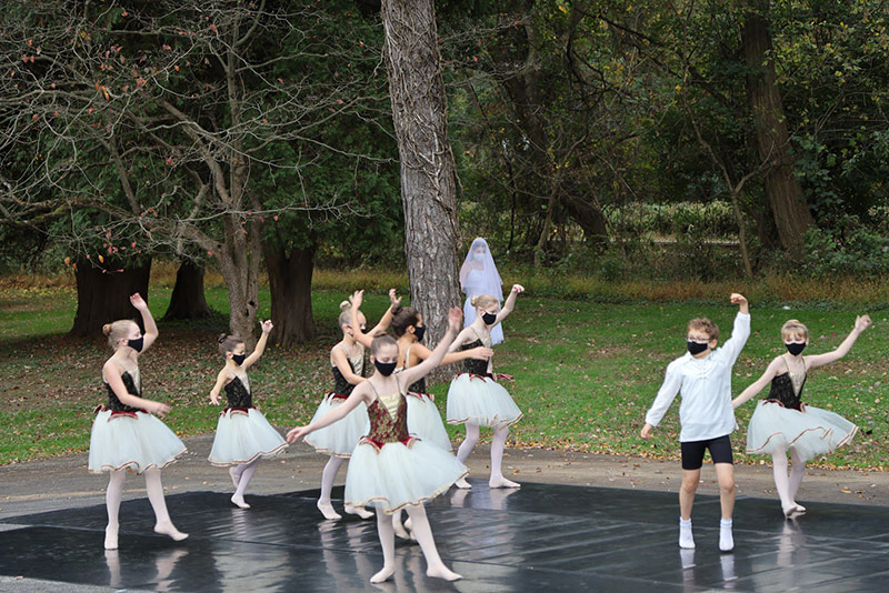Ballet 180 Studio performs outdoor in the fall