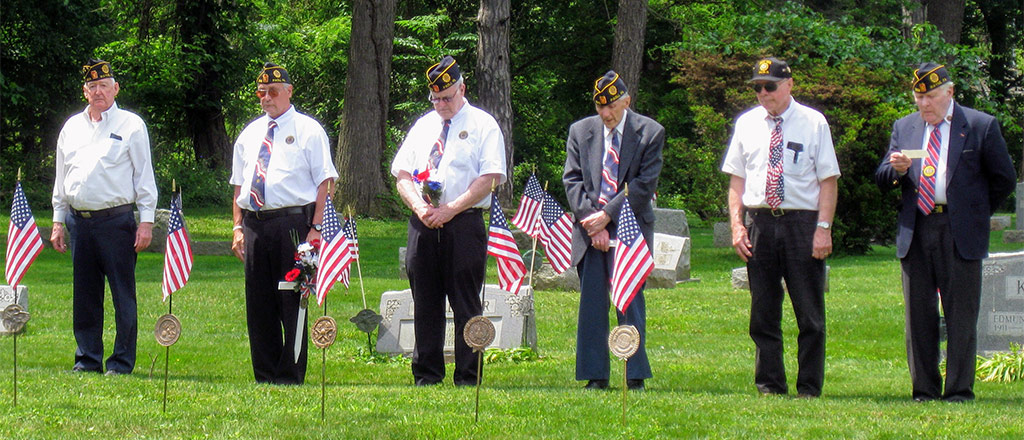 Veterans at the Veterans Memorial Day Commemoration