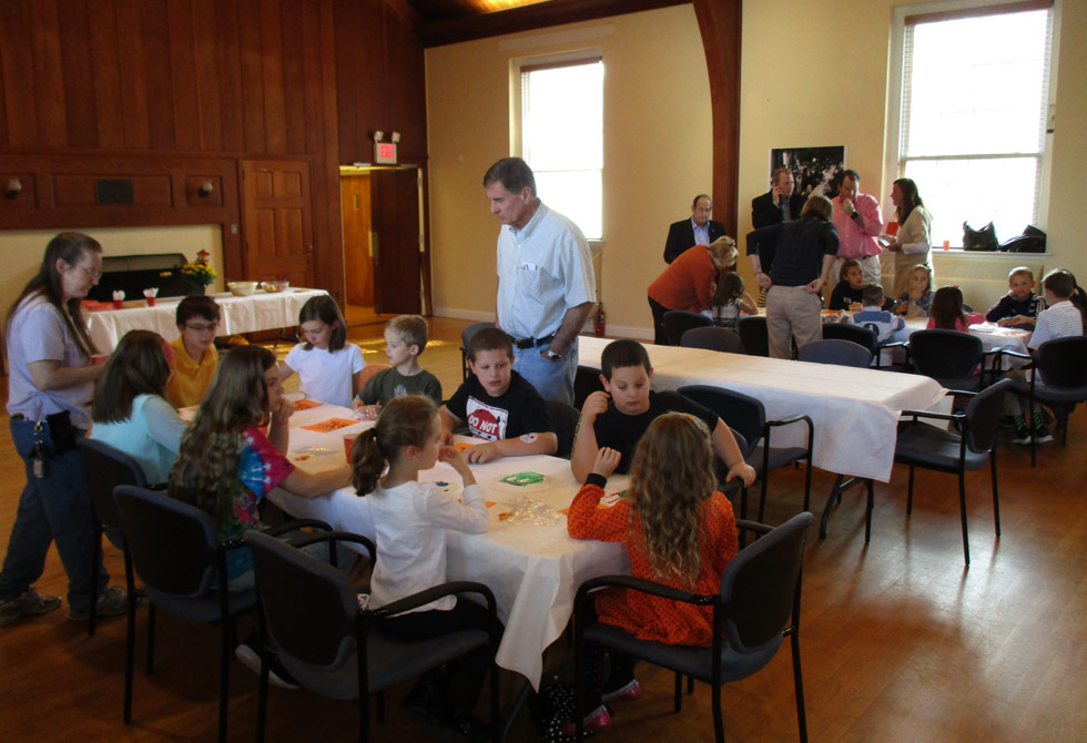 Children Eating At The Baptist Church In The Great Valley