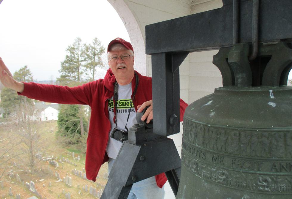 Pastor Loring In The Bell Tower Of The Baptist Church In The Great Valley
