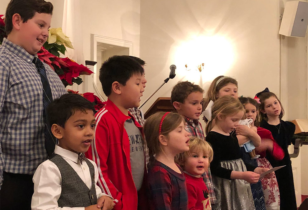 BCGV Children Singing At Christmas