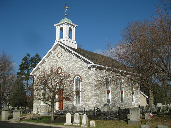 Photo of the Baptist Church in the Great Valley in winter