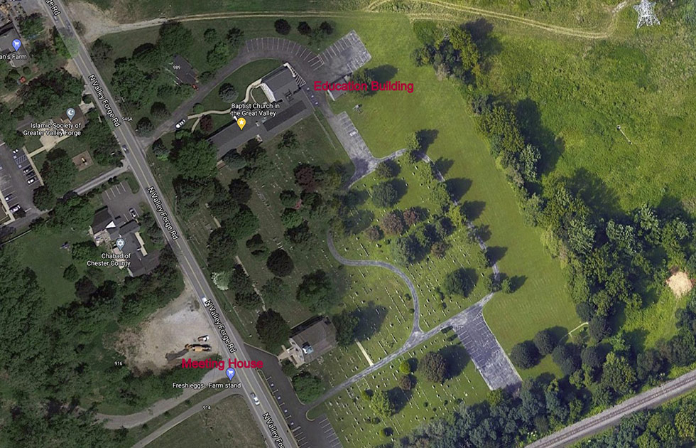 Overhead Satellite Image Of BCGV Grounds
