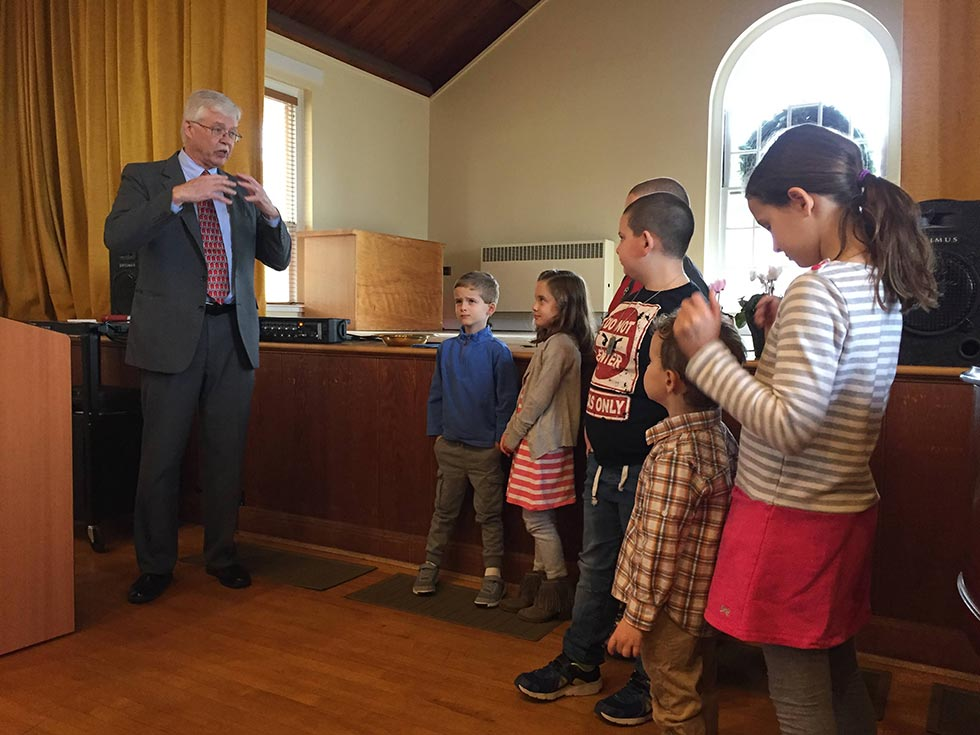 Pastor Loring Teaching Sunday School