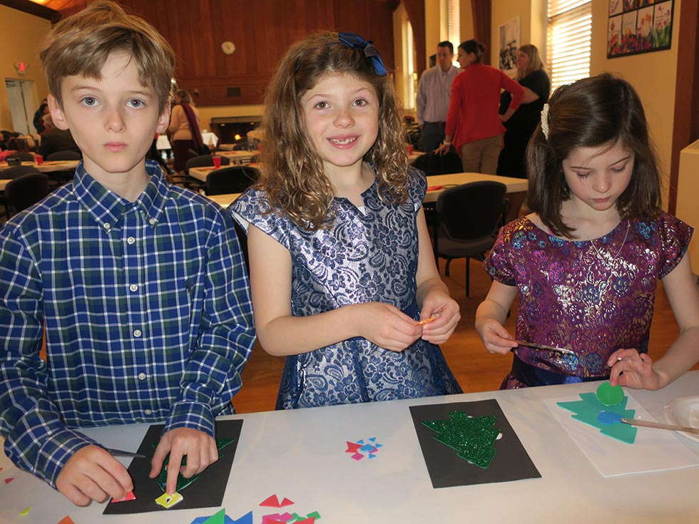 Children Doing Arts And Crafts At Sunday School