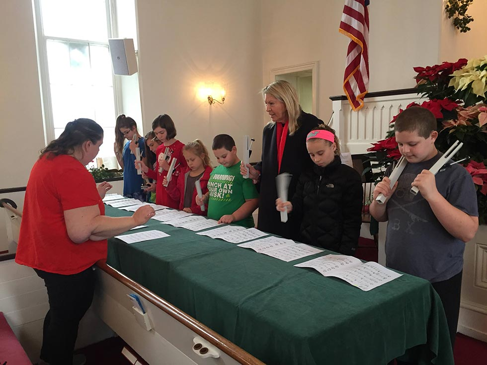 Children Playing Music At Sunday School