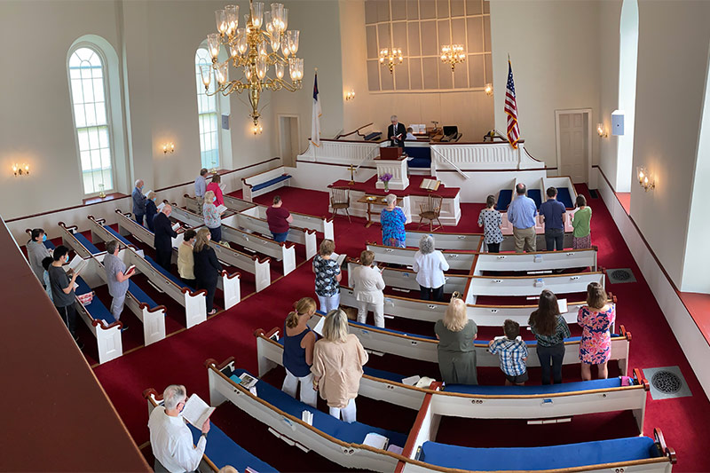 Congregation Inside Church At Sunday Worship